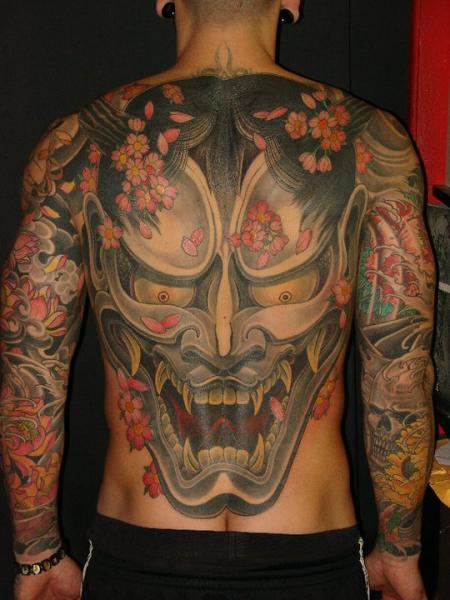 Arm Japanese Back Demon Tattoo by Ethno Tattoo