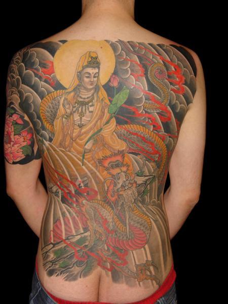 Japanese Buddha Back Tattoo by Ethno Tattoo