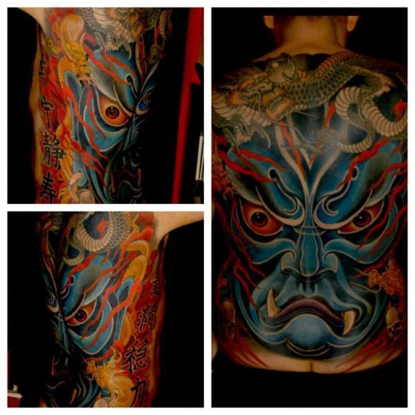 Tatuaggio Giapponesi Schiena Draghi Demoni di Ethno Tattoo
