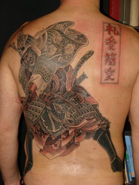 Japanese Back Samurai Tattoo by Ethno Tattoo