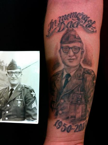 Arm Portrait Realistic Tattoo by Omaha Tattoo
