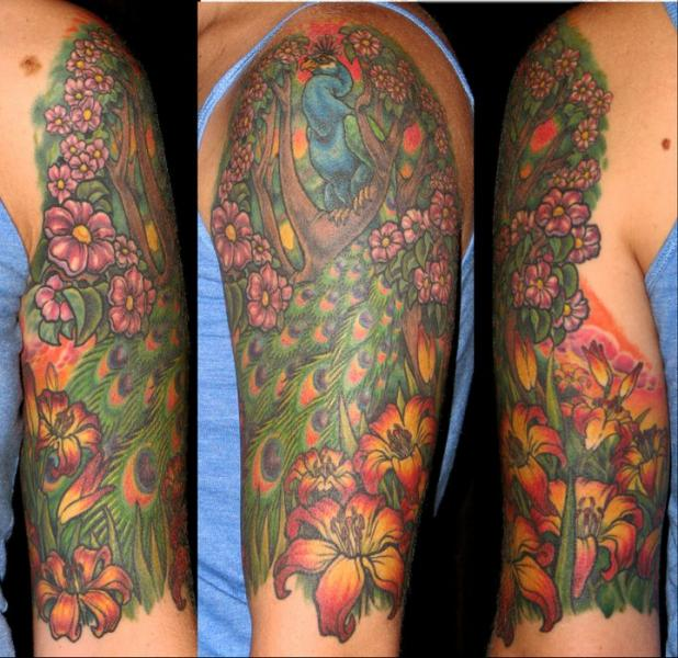 Arm Phoenix Tattoo von Optic Nerve Arts