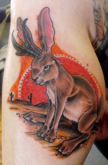 Arm Fantasy Rabbit Tattoo by Proton Tattoo