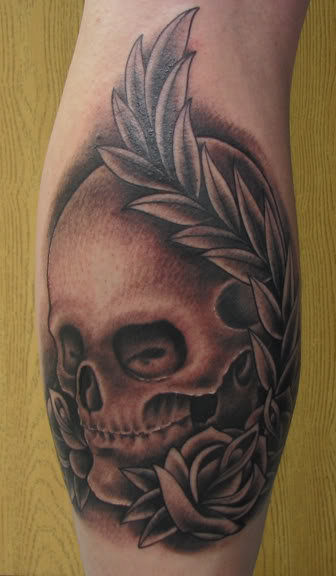 Skull Hand Tattoo by Proton Tattoo