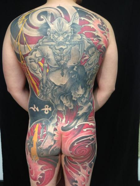 Japanese Back Butt Body Tattoo by Sakura Tattoos