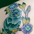 Shoulder New School Owl tattoo by Sakura Tattoos