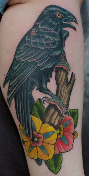 Arm Crow Tattoo by Salvation Gallery