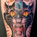 Arm Old School Dolch Panther tattoo von Salvation Gallery