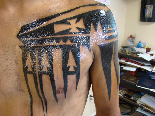 Shoulder Tribal Tattoo by Animated World Tattoo