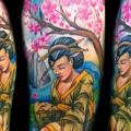 Arm Japanese Geisha tattoo by Club Tattoo