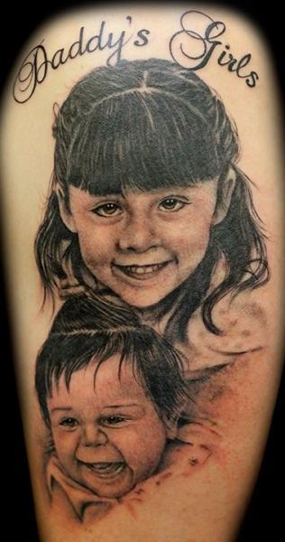 Arm Realistische Kinder Tattoo von Club Tattoo