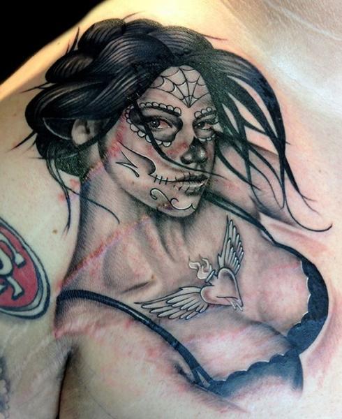 Brust Frauen Tattoo Von Club Tattoo