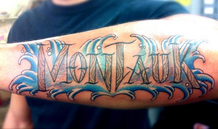 Arm Lettering Fonts Tattoo by Tattoo Lous