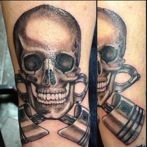 Tatuaje Cráneo por Tattoo Lous