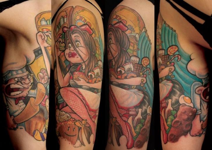 Arm Fantasy Character Tattoo by Dimitri Tattoo
