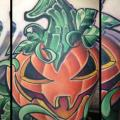 tatuaje Fantasy Calabaza por The Blue Rose Tattoo