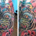 tatuaggio Old School Tigre di The Blue Rose Tattoo