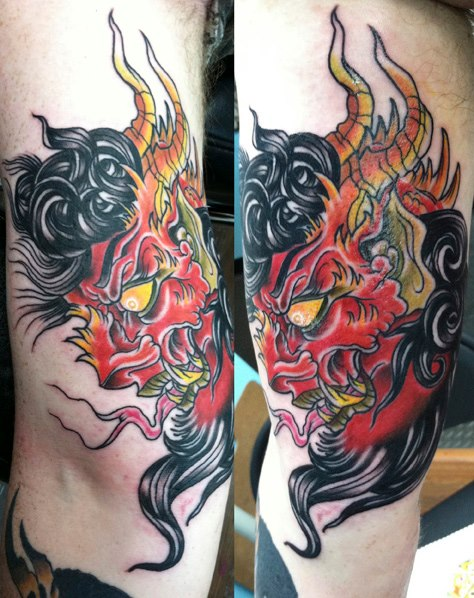 Side Japanese Tattoo by The Blue Rose Tattoo