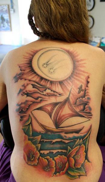 Rücken Landschaft Tattoo von Vitality Tattoo