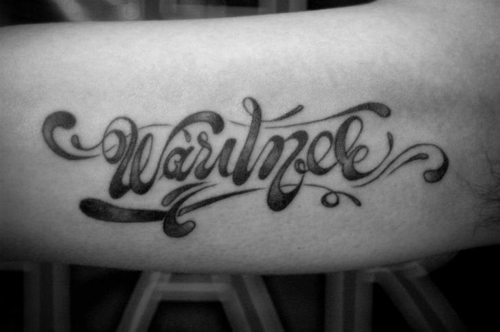 Tatuaż Ręka Napisy Czcionki Przez Czi Tattoo Studio