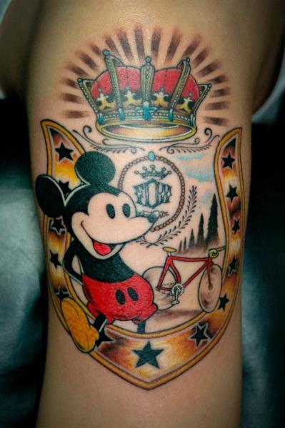 Arm Fantasy Mickey Mouse Tattoo By Czi Tattoo Studio