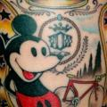 Arm Fantasie Mickey Mouse tattoo von Czi Tattoo Studio