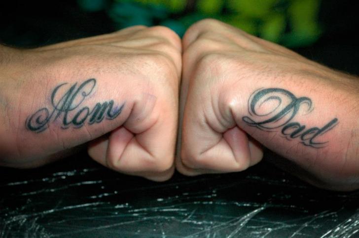 Lettering Hand Fonts Tattoo by Czi Tattoo Studio