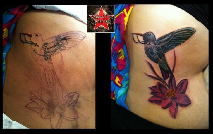 Tatouage Fleur Oiseau Par Samed Ink Tattoos