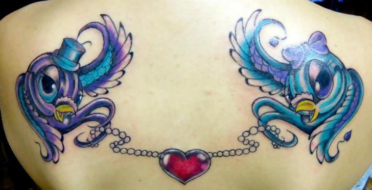 Back Sparrow Tattoo by Bubblegum Art