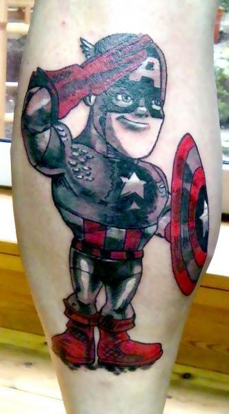 Fantasy Captain America Tattoo by Bubblegum Art