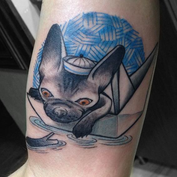 Fantasy Dog Tattoo by Bubblegum Art