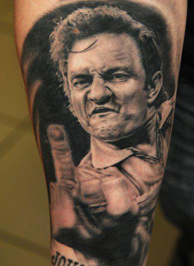 Tatuaje Brazo Retrato Realista por Andys Tattoo