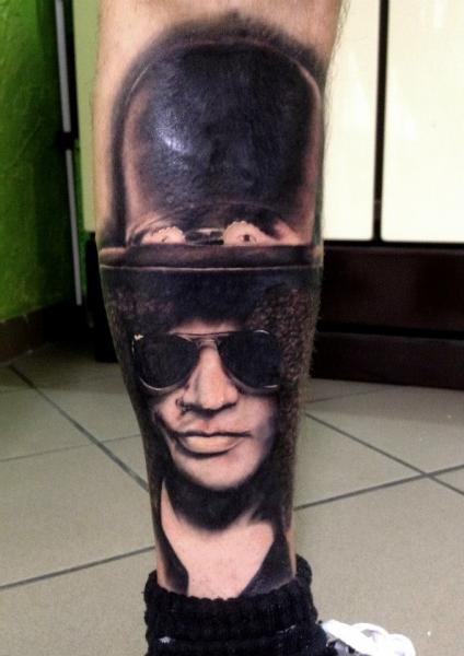 Realistic Calf Slash Tattoo by Andys Tattoo