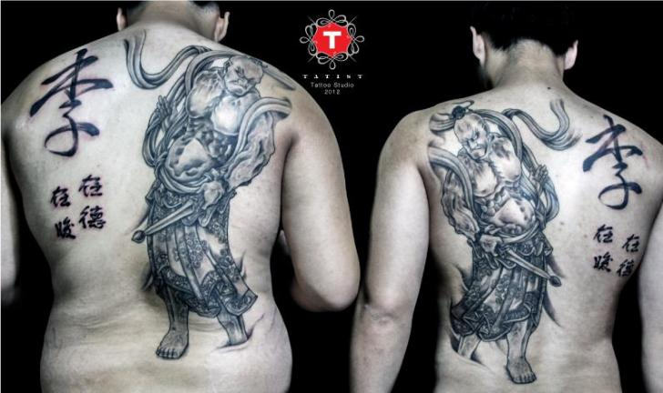 Japanese Back Samurai Tattoo by Tatist Tattoo