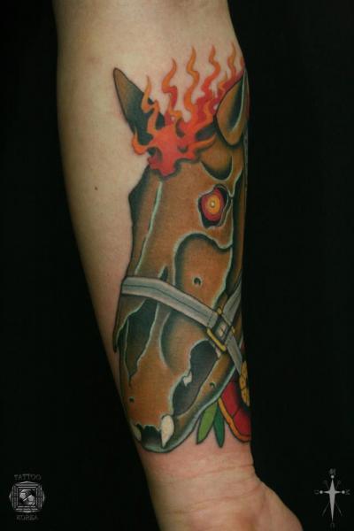 Arm Horse Tattoo by Tattoo Korea