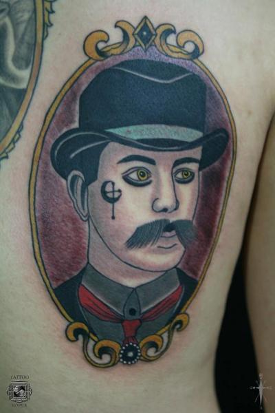 Fantasy Medallion Tattoo by Tattoo Korea