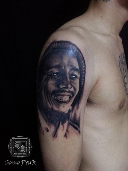 Shoulder Portrait Realistic Tattoo by Tattoo Korea