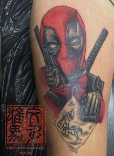 Arm Hero Deadpool Tattoo by Andys Body Electric