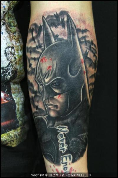 Arm Fantasy Batman Tattoo by Inkholic Tattoo