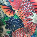 Japanese Back Carp Koi tattoo by Inkholic Tattoo