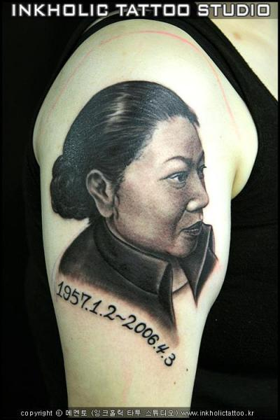 Shoulder Portrait Realistic Tattoo by Inkholic Tattoo