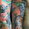 Snake Japanese Sleeve tattoo by Inkholic Tattoo