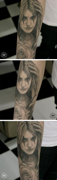 Arm Women Tattoo by Song Yeon