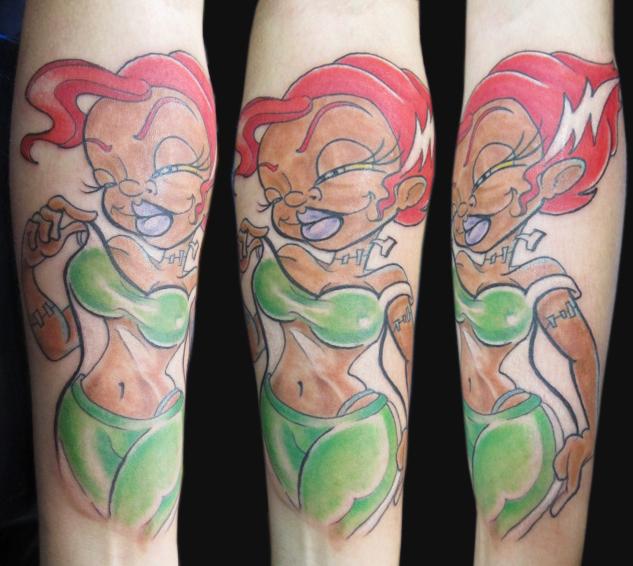 Tatuaje Brazo Fantasy Mujer por Sunrat Tattoo