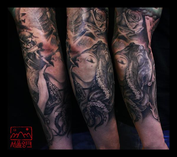 Tattoo Woman Photo: Women Sleeve Tattoo By Seoul Ink Tattoo