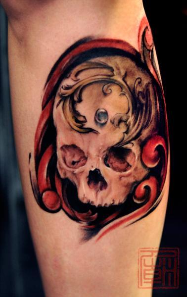 Arm Totenkopf Tattoo von Tattoo Temple