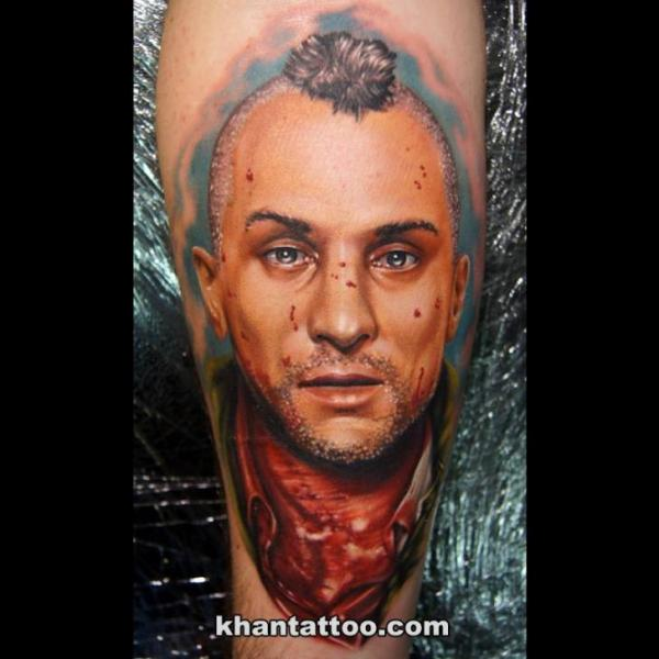 Realistic Calf Tattoo by Khan Tattoo