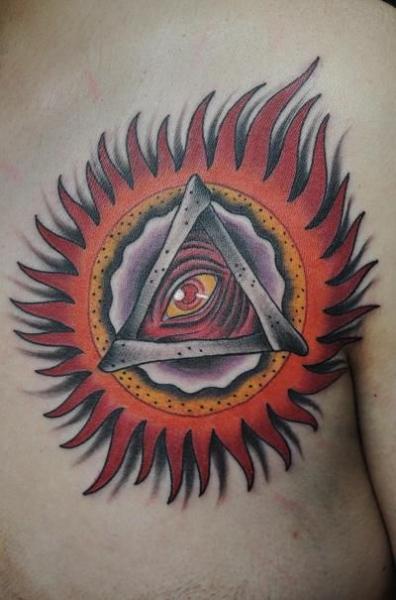 Old School God Tattoo by Detroit Diesel Tattoo