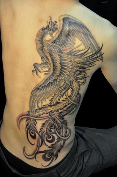 Seite Phoenix Tattoo von Detroit Diesel Tattoo