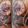 Shoulder Clock tattoo by Artifex Tattoo